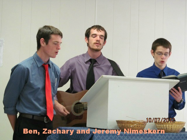 Ben, Zach and Jeremy Nimeskern